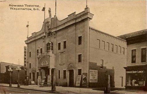 In the right corner of the photo next to Howard Theatre: the building that would house Frank Holliday's